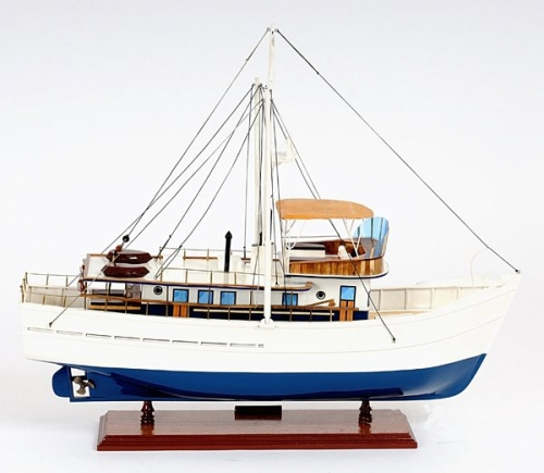 Dickie Walker Fishing Boat Model, commercial fishing boat model, wood boat model