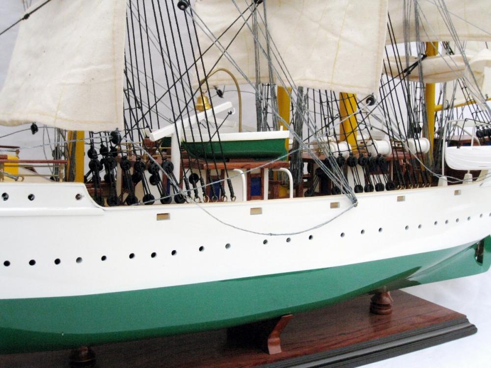 Full-Rigged Three Masted Ship DANMARK Art  on Canvas The Kingdom of Denmark