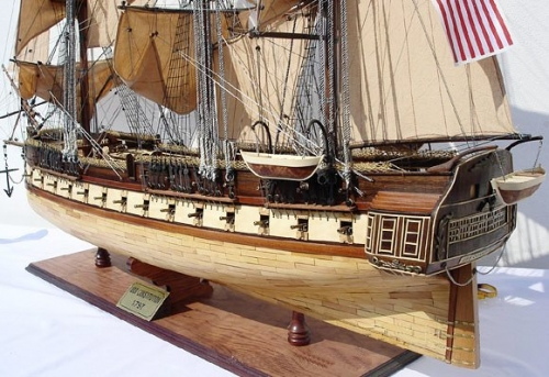uss constitution tall ship model