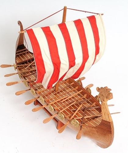 Drakkar Viking Model Boat, Wooden Model Boats, Model Sailboat