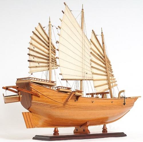 Chinese Junk Wood Sailboat Model