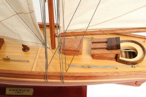 """The America Sailboat Wooden America/'s Cup Model 33/"""" Fully Built Yacht New"""
