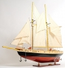 Bluenose II Painted Large Sailboat Model