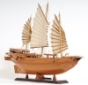 Chinese Junk Wood Model Sailboat
